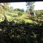 view from verandah of spa room