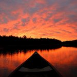 Sunrise from canoe