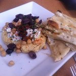 hummus - so good but too much to finish