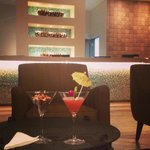"""""""Sacha Cocktail"""" and Front desk area"""