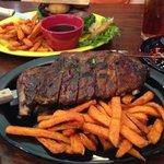 prime rib sandwich & the ribs!