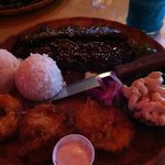 Kombo platter coconut shrimp & ribs