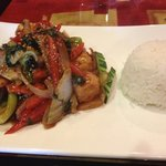 stir fried vegetables with basil sauce