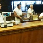 Kreuz Market - BBQ meat being cut and sold