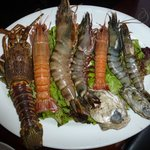Seafood platter you can choose from