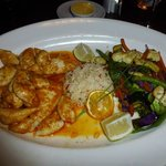 Calamari with garlic and lemon butter