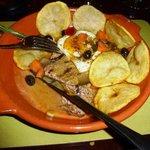 Pan fried Portuguese steak in white wine & port