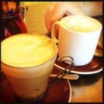 caramel latte & flat white