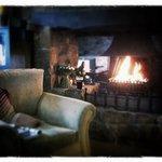 comfy sofas, open fire