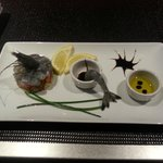 tartare de crevettes bleues