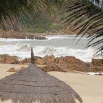 Hoher Wellenschlag in der Bucht