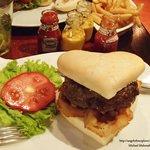 My Juicy Lucy burger