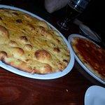pizza ... garlic and tomato