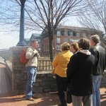 Duane sharing information about Carroll Creek