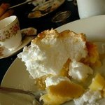 A portion of Lemon Meringue Pie