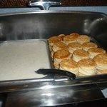 Biscuits & Gravy at Breakfast Buffet