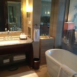 Bathroom with tub that enables you to watch tv!!
