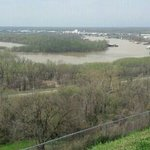 View if Yazoo River from Ft. Hill. At the time of battle the Mississippi ran here.