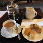 Coffee and cake on arrival