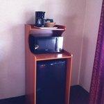 Kaffeemaschine , microwelle und Kühlschrank
