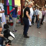 Film being made in local Souq