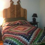 Gorgeous quilt in the Sage Room
