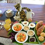 Breakfast prepared by John for us (tiger not included)