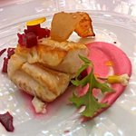 pescado blanco with beetroot mousseline