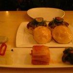 Top - Bulgogi sliders; bottom - Kimchi trio