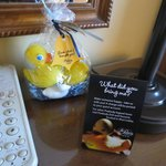 For almost $10, you could take home a soap & 2 rubber ducks