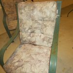 Outdoor lawn furniture in indoor pool area - very rusted and cushions were moldy