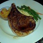 Mesquite pork chop