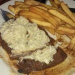 Steak with blue crab (Yes, I got fries !!!)