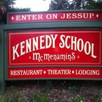 Kennedy School Hotel Entry Sign