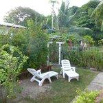 Petit jardin devant maison Alice