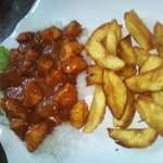 Indian Chicken Madras With Rice And Chips $3.75