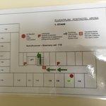Fluchtplan mit den Zimmergrössen