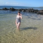 on our beach walk, swim