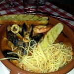 mussels and pasta added to enjoy the sauce
