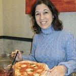 Carol delighted with her Pizza alla Marinara
