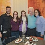 My husband with dear friends and our wonderful waiter, Giovanni