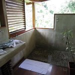 Modern bathroom with open air shower