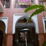 Beautiful courtyard inside the dar