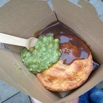 Kate & Sidney, with mushy peas and gravy!!