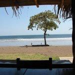 Venao beach from the restaurant