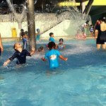 Our kids having fun in the pool.
