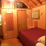 Cabin looking in (door is bathroom), A/C