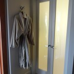 Robes and bathroom entrance