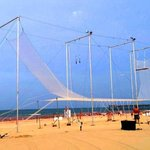 Our Trapeze on the beach in Virginia Beach