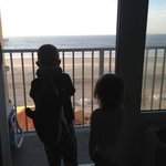 My kids getting their fist look at the ocean!